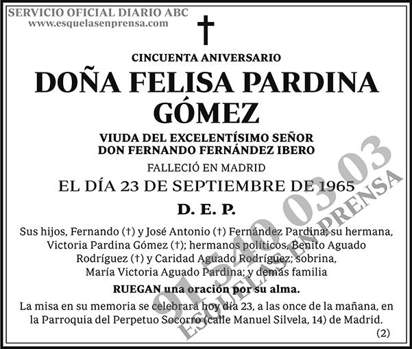 Felisa Pardina Gómez